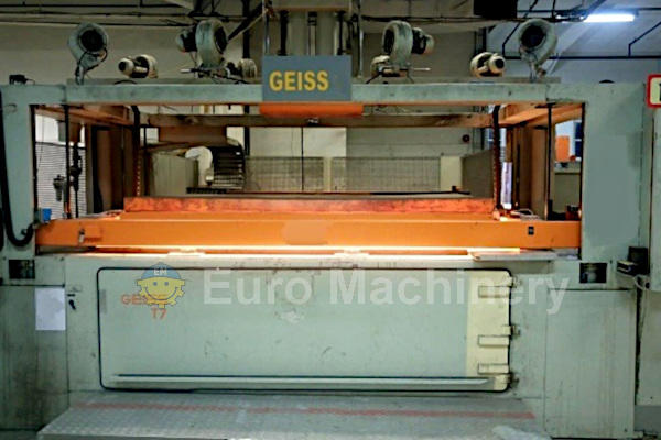 Used GEISS DU 2650 T7 Thermoforming line