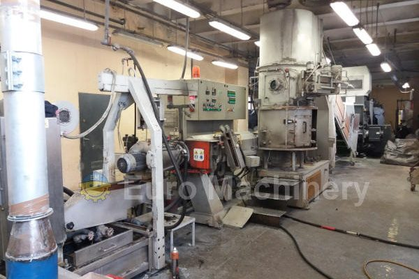 Secondhand Gamma Meccanica GM 65-35D repelletizing Line and Starlinger EWZ 800 Single Shaft Shredder