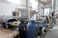 Roll-o-matic COMBI. Processing of polymers and recycled extracts. Bag machine for making bags on rolls. In good condition. Can be seen in production.