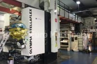 W&H Olympia Stellaflex with 8 colors for sale. Can process PE, PP, OPP, PET and Paper. Euro Machinery has many Ci Flexo Printers for sale.
