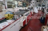 HEMINGSTONE patch Handle Bag Making Machine from LDPE and HDPE. Glue base reinforced patch handle bags. Used plastic bag making mahcines