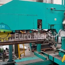 Lenzing Laminator for Extrusion coating mono-extruder. Can process PP coated with: textile, non woven fabric, jute. Can be seen running.