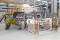 CMR Extrusion Coating Line - CMR coating 1200. Produces PP or PE Thermoplastic extrusion coating material. Machine is in good condition.
