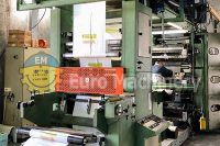 Stack Off Line Flexographic Printing machine. In good used condition. Can print on PE, PP, OPP, and PET materials. Can print in 6 colors.