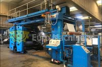 Uteco CI Flexo Printer for printing on PE, PP, OPP, PET, Paper materials. Uteco Gold RR 612. In good condition, can be seen in production.